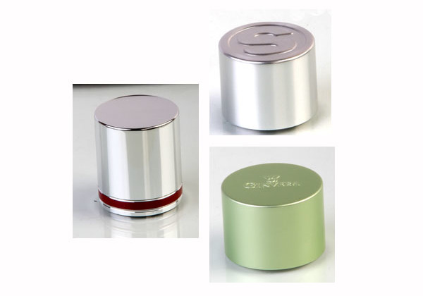 aluminum cover for cosmetic bottle