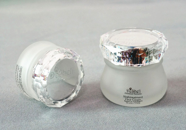 diamond style jar lid for beauty product