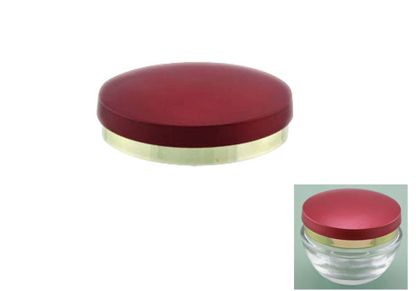metalized screw on lid for cosmetic jar
