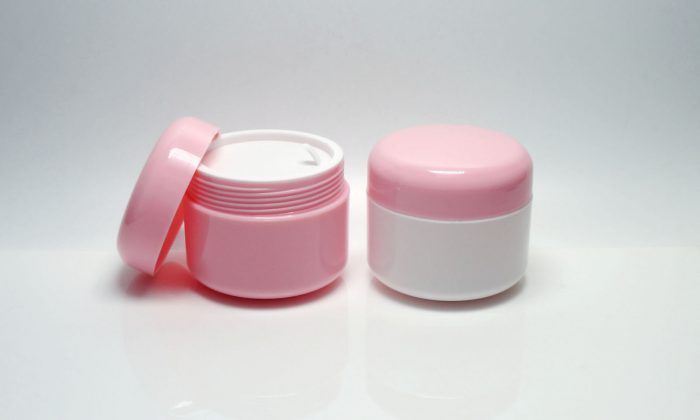 plastic cosmetic containers for personal care products