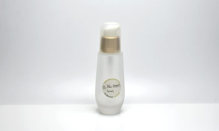 glass cosmetic bottles with pump for liquid foundation packaging