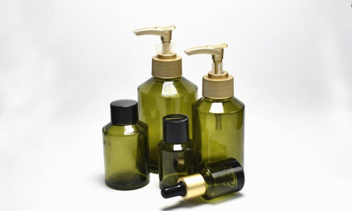 glass cosmetic containers for skin essence oil, body lotion, hair oil packaging