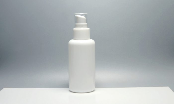 opaque white glass cosmetic bottles for lotion, serum
