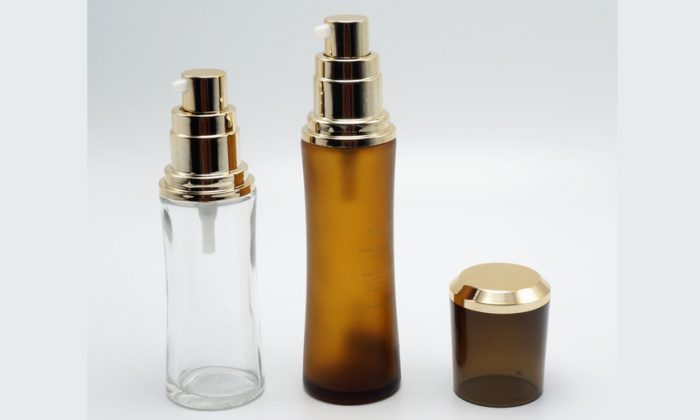 glass primary cosmetic packaging bottles