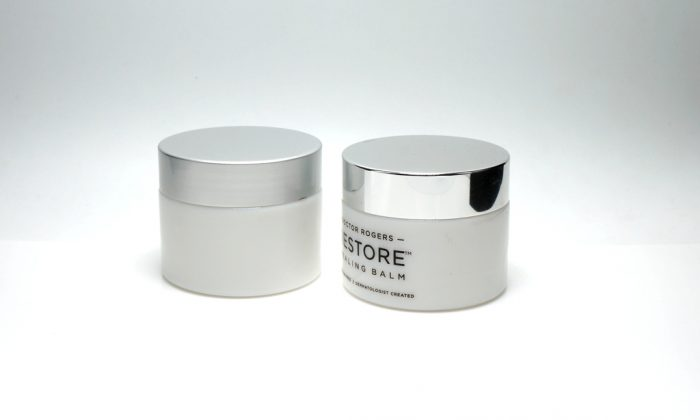opal white glass primary packaging for face cream, facial mask packaging