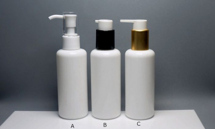 opaque white glass cosmetic packaging for lotion, toner