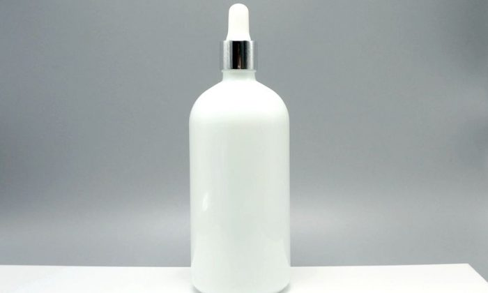 200ml opaque white glass packaging