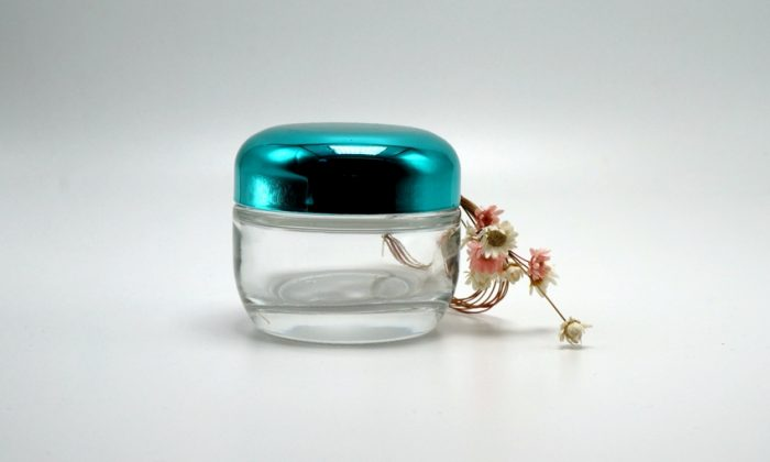 glass cosmetic containers for face cream and mask