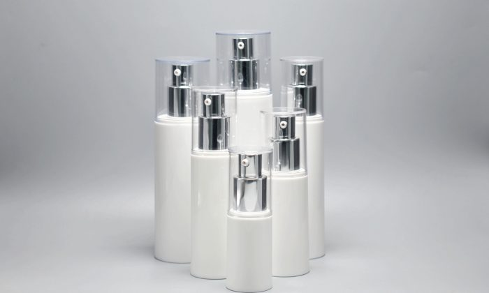 eco-friendly empty airless cosmetic pump bottle for skin care products