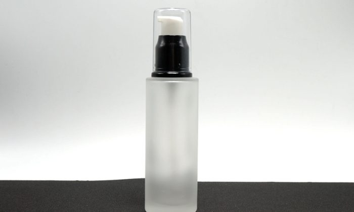 cylinderic glass cosmetic bottles for facial toner, serum packaging