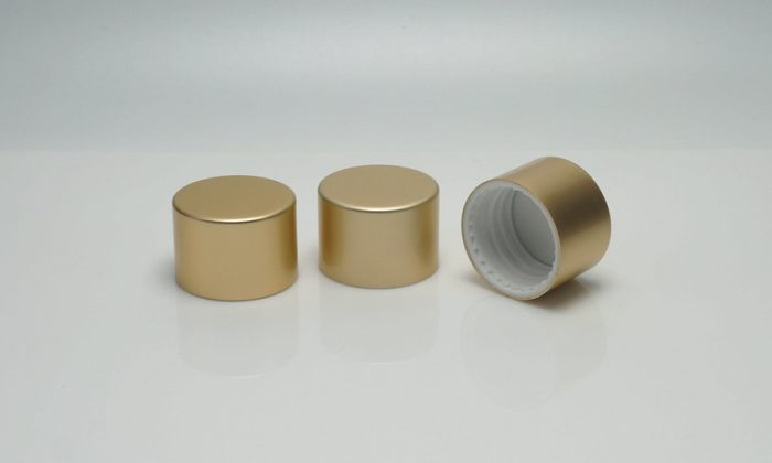 cosmetic bottle cap with screw on neck for cosmetics, skin care etc.