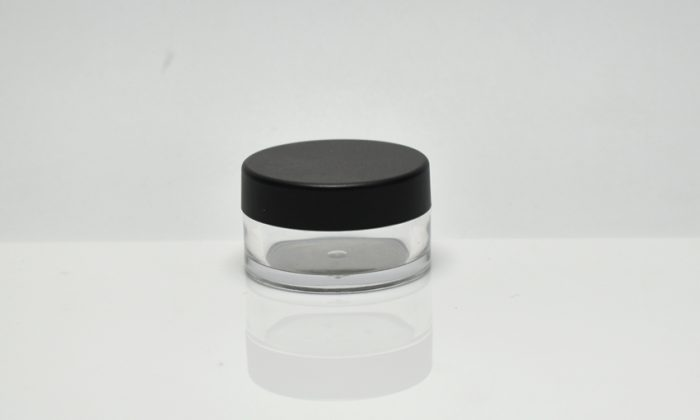 round small cosmetic jars for eye shadow, blusher