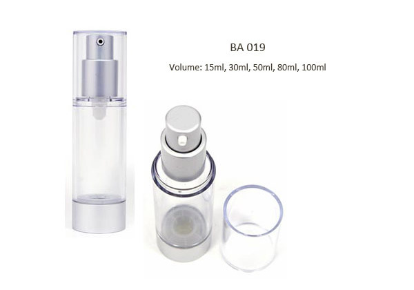 airless cosmetic bottle for makeup foundation, eye cream, eye serum.