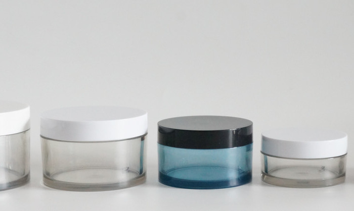 plastic cosmetic jar for cream, lotion, body scrub.