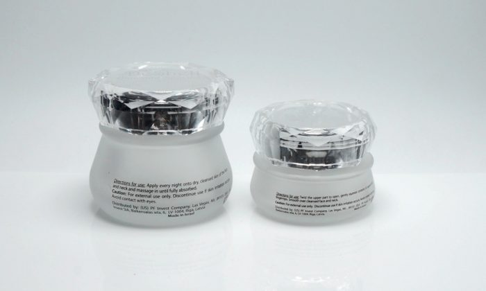 glass primary packaging for face cream