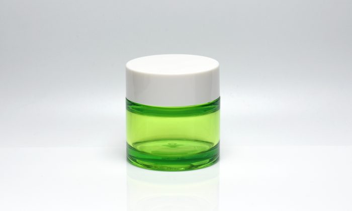 50ml empty plastic cosmetic jars with lid