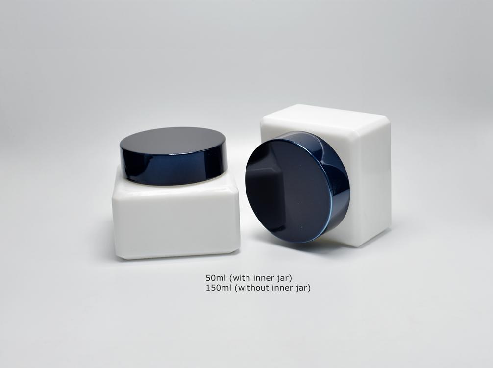 Luxury Cosmetic Jars Opal Glass Packaging Rayuen Packaging